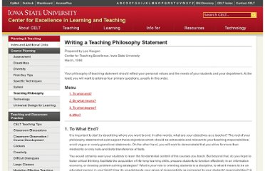 http://www.celt.iastate.edu/teaching/philosophy.html