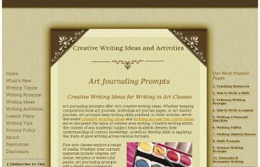 http://www.creative-writing-ideas-and-activities.com/art-journaling-prompts.html