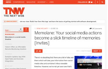 http://thenextweb.com/apps/2010/12/21/memolane-your-social-media-actions-become-a-slick-timeline-of-memories/