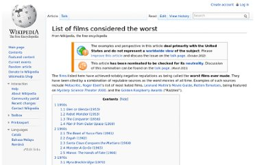http://en.wikipedia.org/wiki/List_of_films_considered_the_worst