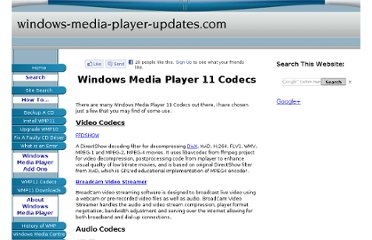 http://www.windows-media-player-updates.com/windowsmediaplayer11codecs.html