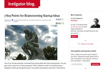 http://www.instigatorblog.com/7-key-points-for-brainstorming-startup-ideas/2010/01/07/