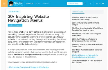 http://naldzgraphics.net/inspirations/30-inspiring-website-navigation-menus/