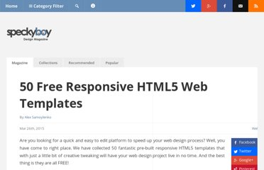 http://speckyboy.com/2010/08/02/40-high-quality-css-and-xhtml-web-layout-templates/