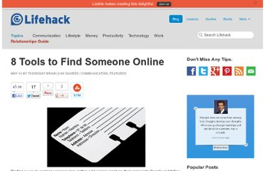 http://www.lifehack.org/articles/communication/8-tools-to-find-someone-online.html