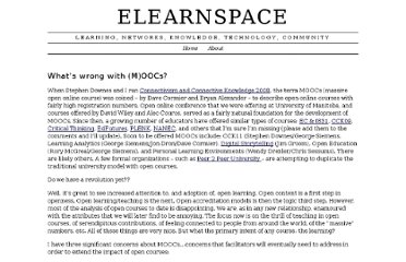 http://www.elearnspace.org/blog/2010/12/19/whats-wrong-with-moocs/