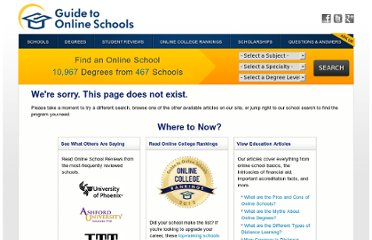 http://www.guidetoonlineschools.com/resources