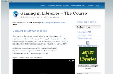 http://www.gamesinlibraries.org/course/