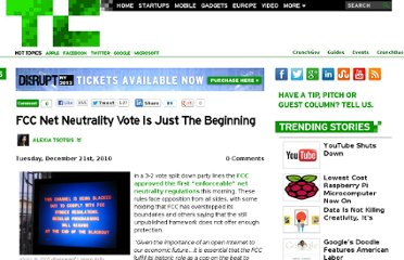 http://techcrunch.com/2010/12/21/fcc-net-neutrality-vote-is-just-the-beginning/