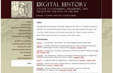 http://chnm.gmu.edu/digitalhistory/links/