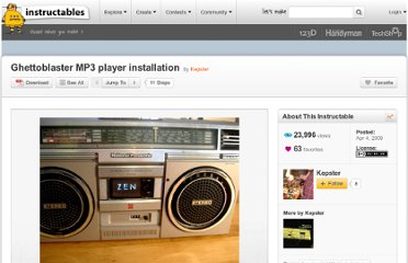 http://www.instructables.com/id/Ghettoblaster-MP3-player-installation/