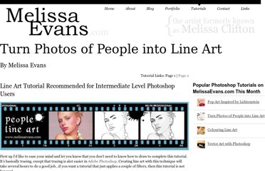 http://www.melissaevans.com/tutorials/turn-photos-of-people-into-line-art