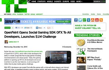 http://techcrunch.com/2010/12/01/openfeint-opens-social-gaming-sdk-ofx-to-all-developers-launches-1m-challenge/