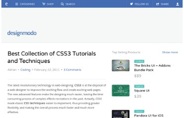 http://designmodo.com/best-collection-of-css3-tutorials-and-techniques/