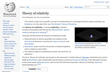 http://en.wikipedia.org/wiki/Theory_of_relativity