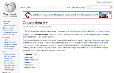 http://en.wikipedia.org/wiki/Conservation_law