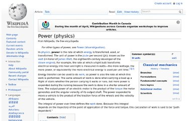 http://en.wikipedia.org/wiki/Power_(physics)