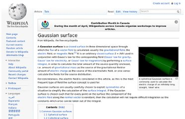 http://en.wikipedia.org/wiki/Gaussian_surface