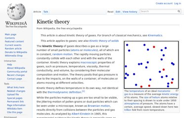 http://en.wikipedia.org/wiki/Kinetic_theory