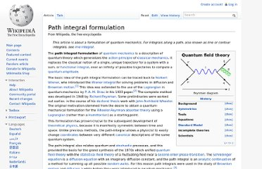 http://en.wikipedia.org/wiki/Path_integral_formulation