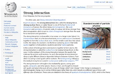 http://en.wikipedia.org/wiki/Strong_interaction