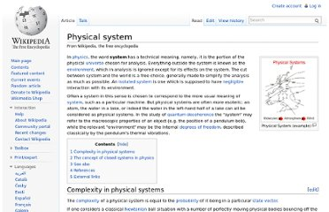 http://en.wikipedia.org/wiki/Physical_system
