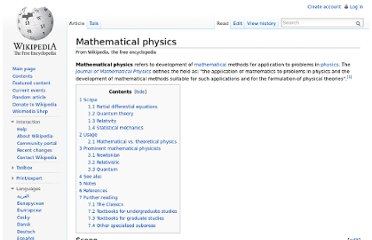 http://en.wikipedia.org/wiki/Mathematical_physics
