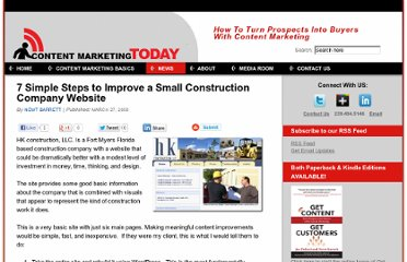 http://contentmarketingtoday.com/2008/03/27/7-simple-steps-to-improve-a-small-construction-company-website/