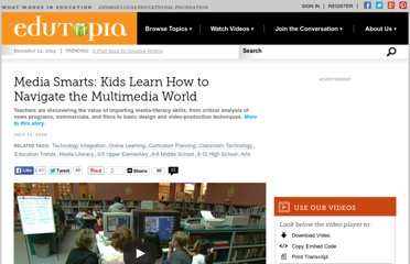 http://www.edutopia.org/media-literacy-skills-video