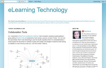 http://elearningtech.blogspot.com/2008/12/collaboration-tools.html