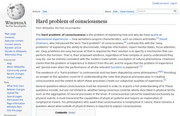http://en.wikipedia.org/wiki/Hard_problem_of_consciousness