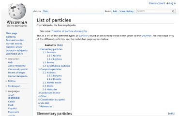 http://en.wikipedia.org/wiki/List_of_particles