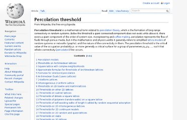 http://en.wikipedia.org/wiki/Percolation_threshold