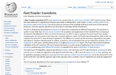 http://en.wikipedia.org/wiki/Fast_Fourier_transform