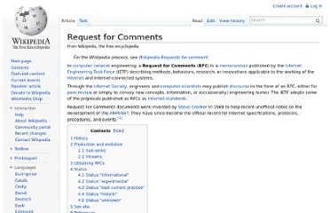 http://en.wikipedia.org/wiki/Request_for_Comments