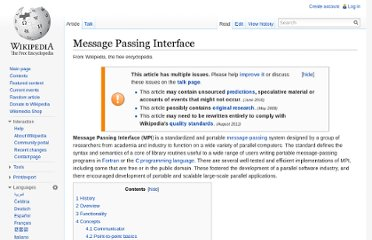 http://en.wikipedia.org/wiki/Message_Passing_Interface