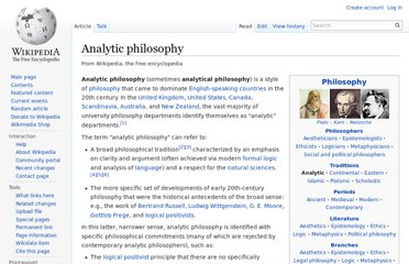 http://en.wikipedia.org/wiki/Analytic_philosophy