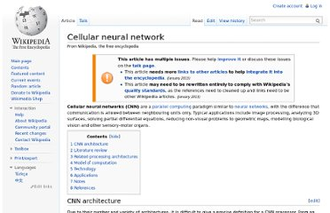 http://en.wikipedia.org/wiki/Cellular_neural_network