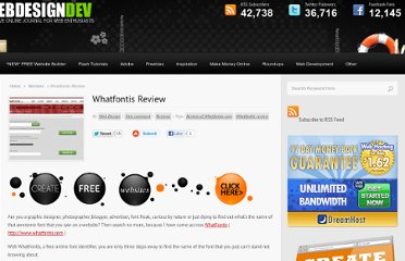 http://www.webdesigndev.com/reviews/whatfontis-review