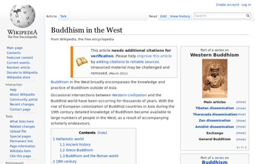 http://en.wikipedia.org/wiki/Buddhism_in_the_West
