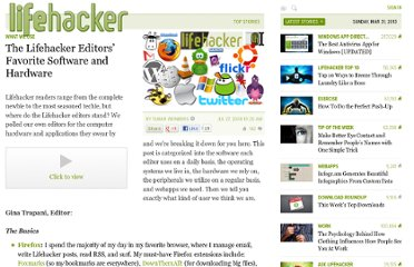 http://lifehacker.com/399296/the-lifehacker-editors-favorite-software-and-hardware