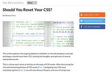 http://sixrevisions.com/css/should-you-reset-your-css/