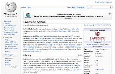 http://en.wikipedia.org/wiki/Lakeside_School