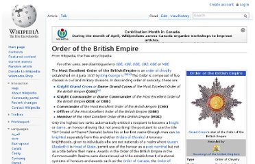 http://en.wikipedia.org/wiki/Order_of_the_British_Empire
