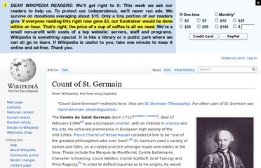 http://en.wikipedia.org/wiki/Count_of_St._Germain