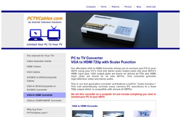 http://pctvcables.com/vga-to-hdmi-pc-to-tv-converter.html