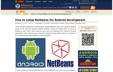 http://gerry.ws/2009/01/1074/how-to-setup-netbeans-for-android-development.html