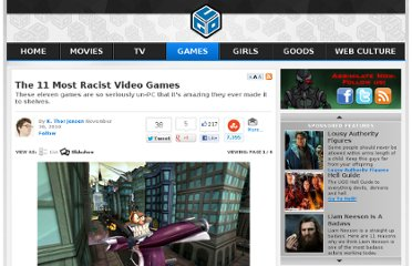 http://www.ugo.com/games/the-11-most-racist-video-games