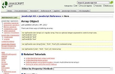 http://www.javascriptkit.com/jsref/arrays.shtml