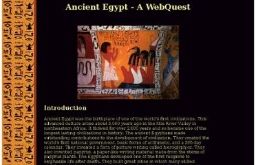 http://departments.xavierhs.org/socialstudies/webquest/egypt.html